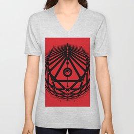 Radiant Abundance (red-black) Unisex V-Neck