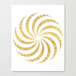 GOLD TORUS circular sacred geometry Canvas Print