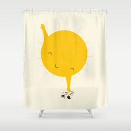 Belly Rub Shower Curtain