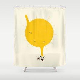 Belly Rub Shower Curtain