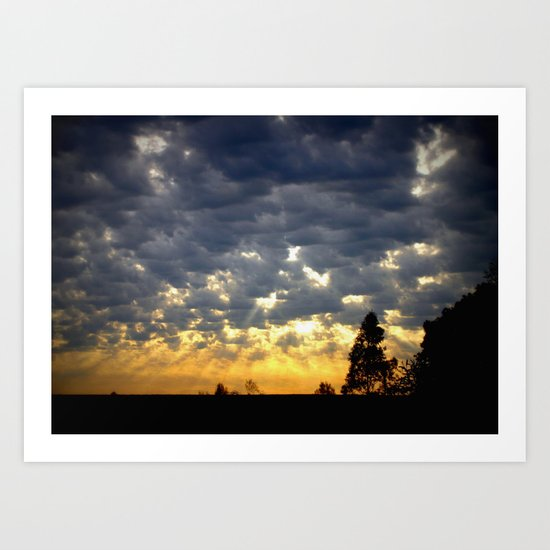 Morning is Breaking! Art Print