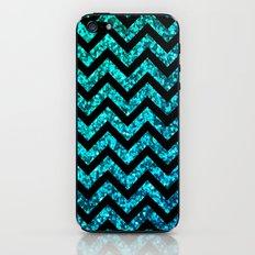 Chevron Aqua Sparkle iPhone & iPod Skin