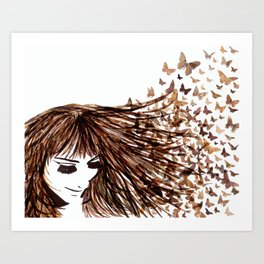 You Give Me Butterflies Art Print