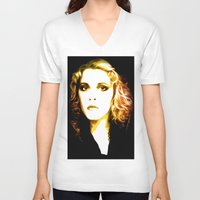 stevie nicks V-neck T-shirts featuring Stevie Nicks - Dreams - Pop Art by William Cuccio aka WCSmack