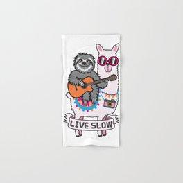 Sloth and Llama Hand & Bath Towel