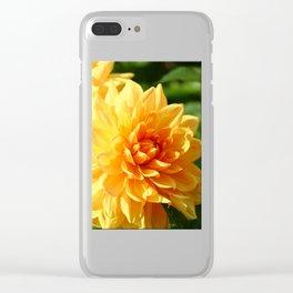 Dahlia Macro Clear iPhone Case