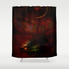 Leaving the planet 72 Pegasi Shower Curtain