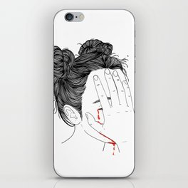 This girl is embarrassed off her face iPhone Skin