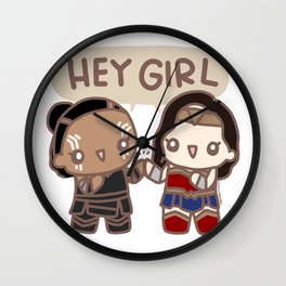 Hey girl Wall Clock