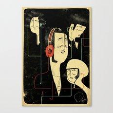 乐 Music Lovers / Vintage Canvas Print