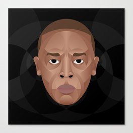 Dr. Dre Portrait Canvas Print