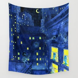 music of the night Wall Tapestry