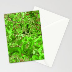 Marble Emerald Ruby Red Stationery Cards