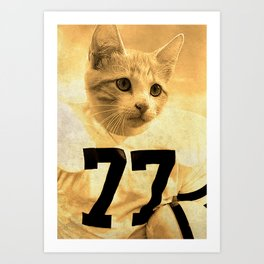 Baseball Kitten #1 Art Print