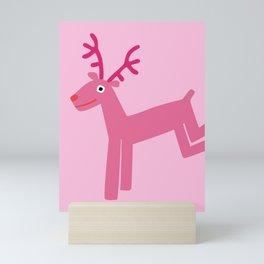 Reindeer-Pink Mini Art Print