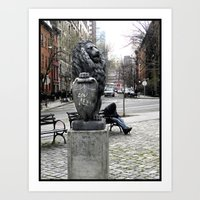 lou reed Art Prints featuring Lou Reed Lion by Jack O'Dowd