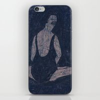 yoga iPhone & iPod Skins featuring yoga by Maybe Mary