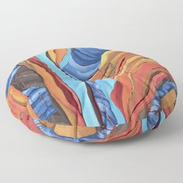 The Rocks Cried Out, Zion National Park Abstract Landscape Painting Floor Pillow