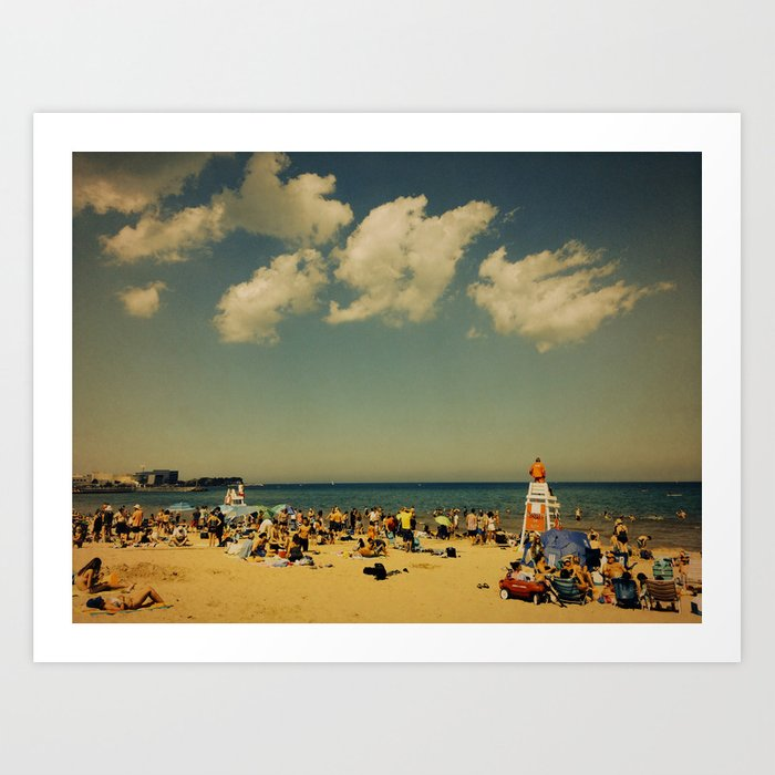 Evanston Beach #2 Art Print