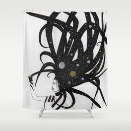 Cosmic Chaos Shower Curtain