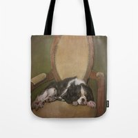 downton abbey Tote Bags featuring Abbey by Ambre Wallitsch
