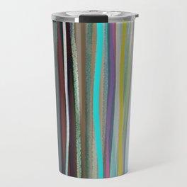 Blue and white stripes blue and white / Handmade colorful stripes Travel Mug