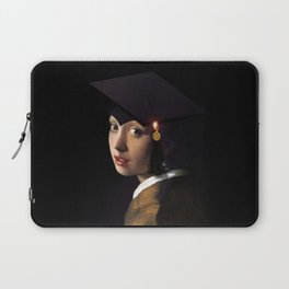 Girl with the Grad Cap Laptop Sleeve