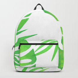 Monstera in Minimalist Paradise Backpack