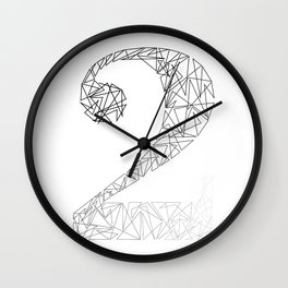 ''Geometry Collection'' - Minimal Number Two Print Wall Clock