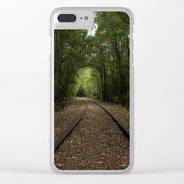 Tree Tunnels Clear iPhone Case