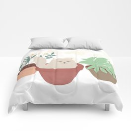 Cat and Plants Comforters
