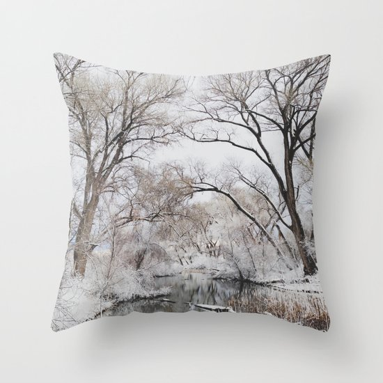 Winter Creek Canopy Throw Pillow