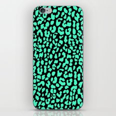 Mint Black Leopard iPhone Skin