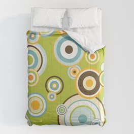 Colorful circle design Comforters