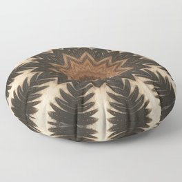 Pine Cone // Rustic Woods Winter Pinecone Forest Geometric Abstract Hiking Camping Mountain Cabin Floor Pillow