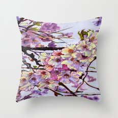 The Cherry Branch Throw Pillow