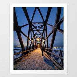 Fredericton Walking Bridge  Art Print