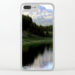 Evening Shadows on Andrews Lake Clear iPhone Case