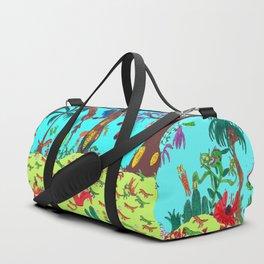 Dinosaur battle_megascene Duffle Bag