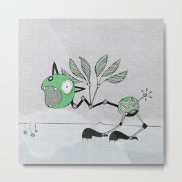 Very Green Schrieky Metal Print
