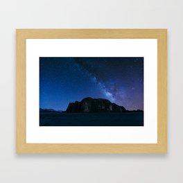 Milky Way Over Wadi Rum Framed Art Print