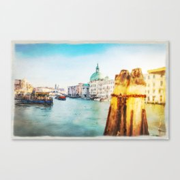 The Pier of Venice watercolor Canvas Print