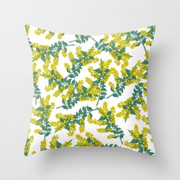 Australian Wattle Throw Pillow