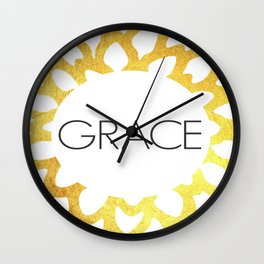 Grace - One Little Word Wall Clock