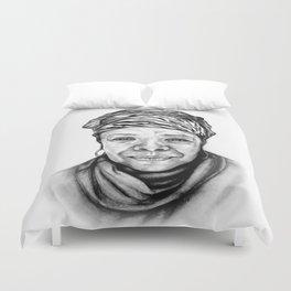 Maya Angelou - BW Original Sketch Duvet Cover