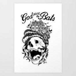 God save the bats Art Print
