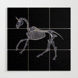 Unicorn Fossil Wood Wall Art