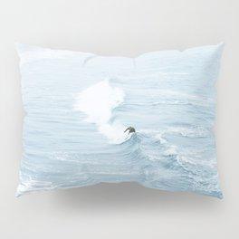 Blue Waves Surfer Pillow Sham