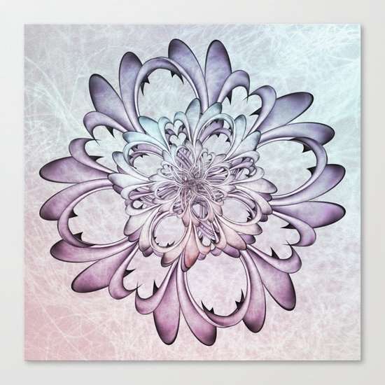 Floral abstract . Canvas Print