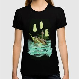 ghost pirate boat T-shirt